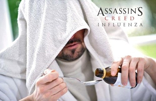 Ubisoft,medicine,flu,assassins creed,video games