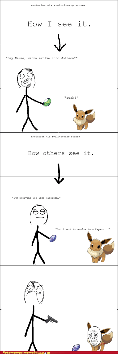 evolution eeveelutions eevee Rage Comics - 7111577344