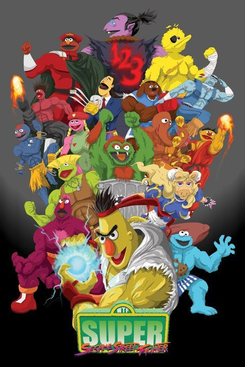 crossover Street fighter Sesame Street - 7111580928