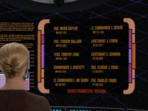 the west wing seven of nine easter egg voyager Star Trek jeri ryan - 7111684096