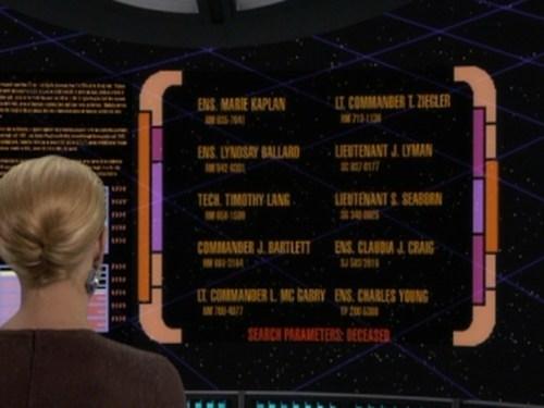 the west wing seven of nine easter egg voyager Star Trek jeri ryan