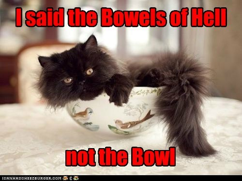 I said the Bowels of Hell not the Bowl
