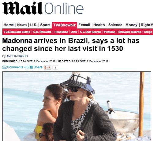 brazil headlines Madonna - 7111832832