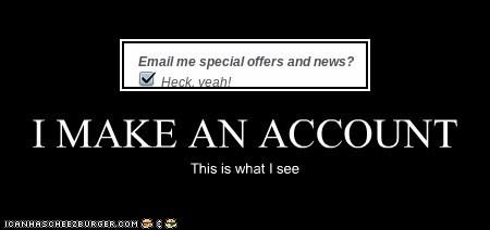 I MAKE AN ACCOUNT