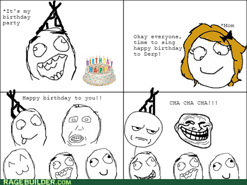 birthday party troll friend happy birthday cha cha cha - 7112247552