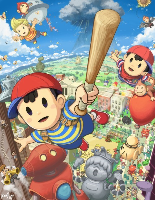 ness Fan Art earthbound video games - 7112260864