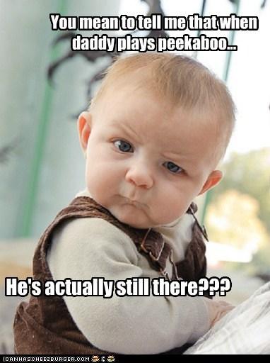 skeptical baby peekaboo parenting - 7112378880