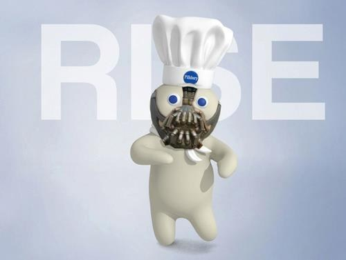pillsbury doughboy,bane,rise,superheroes,batman