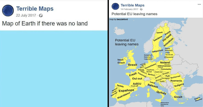 Funny pics from terrible maps.