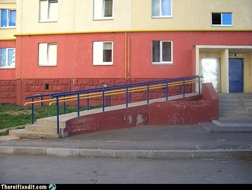 "So, What Part of ""Wheelchair Ramp"" did you not understand...?"