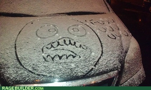memes in real life,Snow Drawings