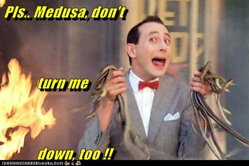 Pls.. Medusa, don't             turn me            down, too !!