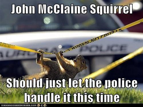 John McClane squirrels die hard police - 7113549568