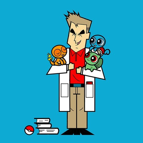 art powerpuff girls starters professor oak cartoons - 7113798400