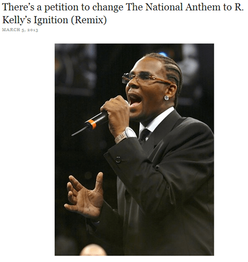 r kelly national anthem ignition
