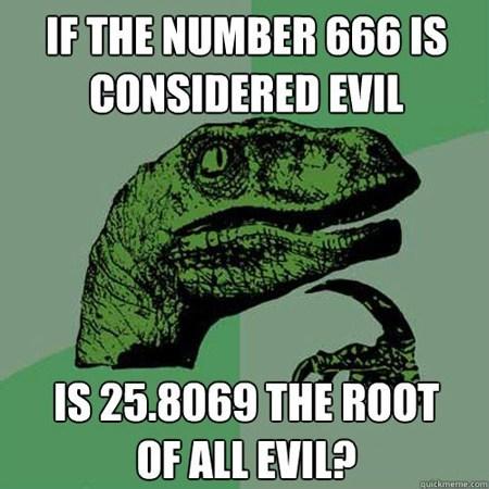 evil philosoraptor math square root