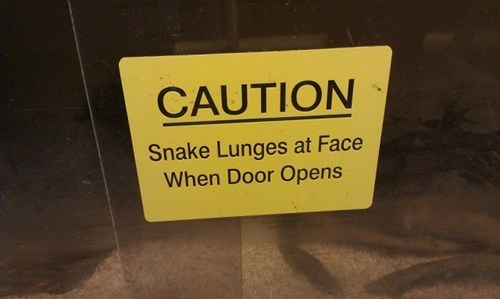 sign snakes dangerous - 7113982464