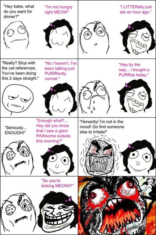 purr trolling cat puns puns meow litter - 7114009344