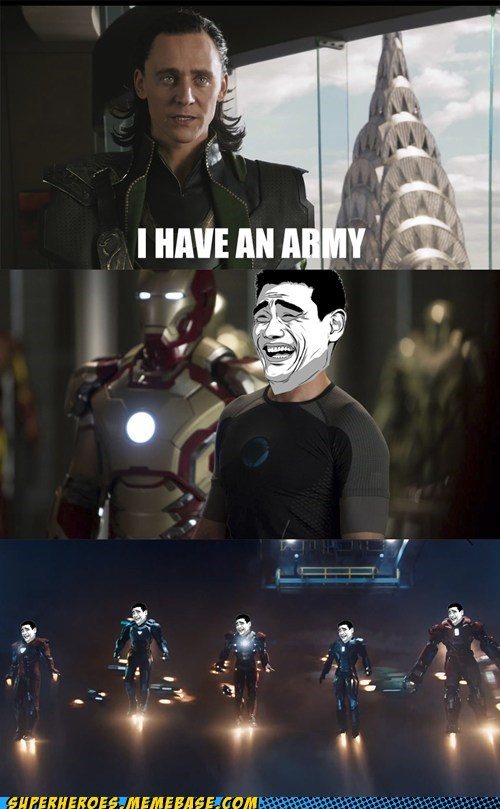 loki,iron man 3,army
