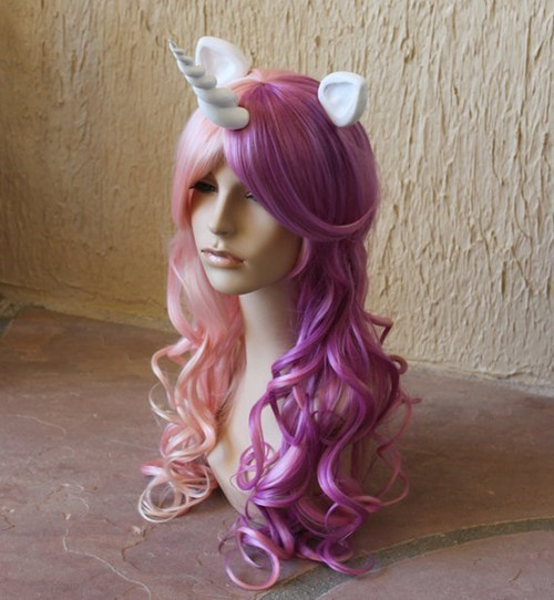 cosplay my little pony wigs horns - 7114231040