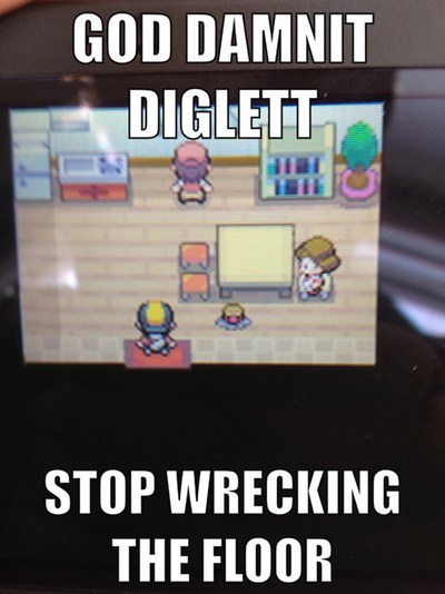 diglett wednesday gameplay diglett image macro - 7114246912