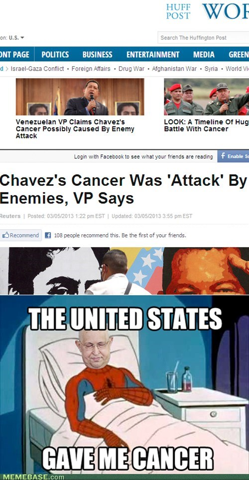 chavez cancer gave me cancer politics