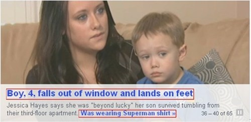 news,close call,coincidence,superman