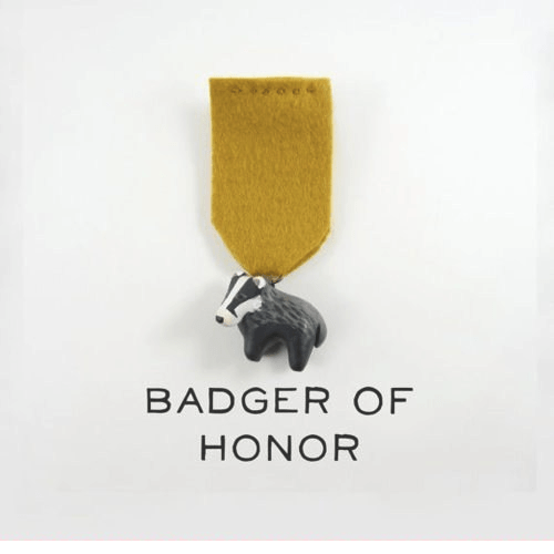 badge badge of honor military honor badger literalism added letter medal accolade - 7114641664