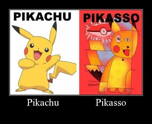 Pokémon,pikachu,video games,picasso