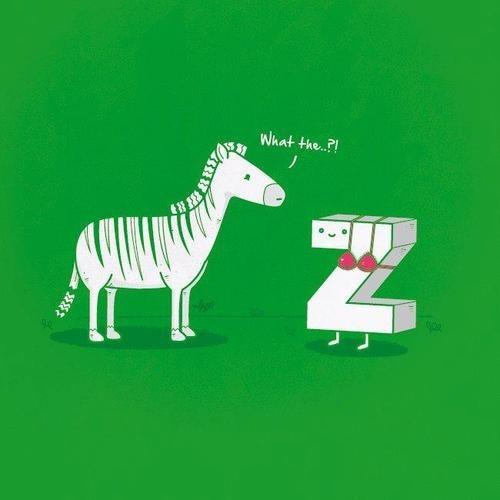 zebra bra homophones double meaning z shape - 7114656256