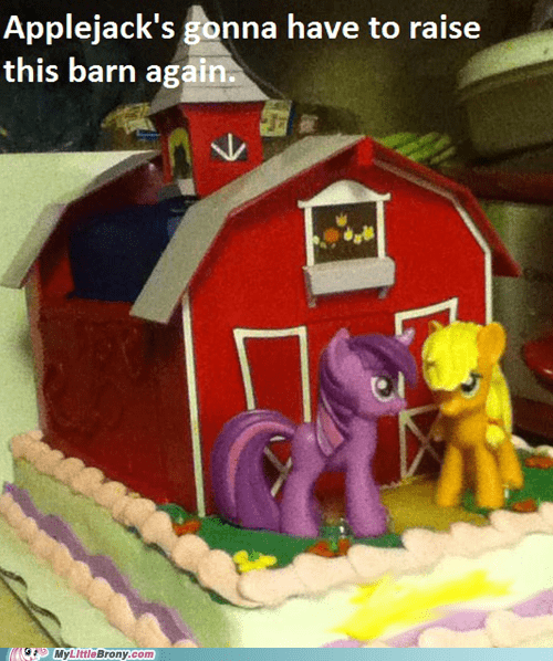 IRL,raise this barn,cakes
