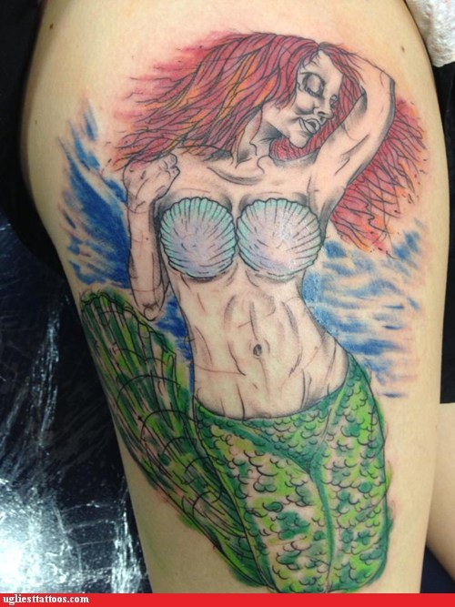 ariel,arm tattoos,The Little Mermaid