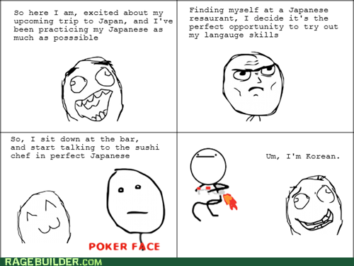 nothing to do here sushi japanese korean poker face