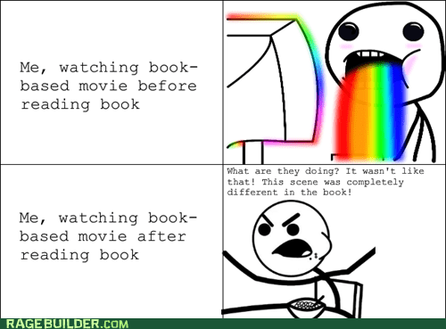 cereal guy,Movie,books,rainbow guy,adaptations