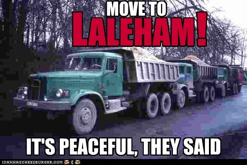 MOVE TO ALEHAM L ! IT'S PEACEFUL, THEY SAID
