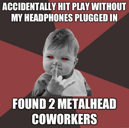 coworkers metalhead success baby - 7116364544
