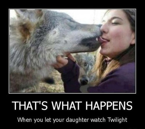 wolves kissing twilight
