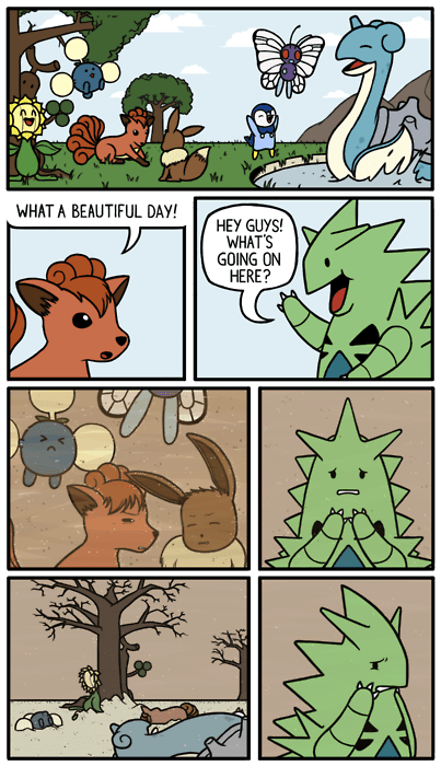 tyranitar,sandstorms,comics,friends
