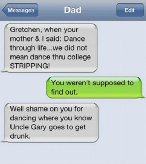 text messages,strippers,fatherdaughter