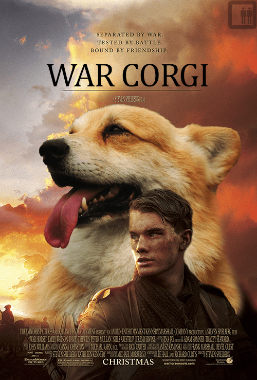 War Horse dogs corgi - 7116472832