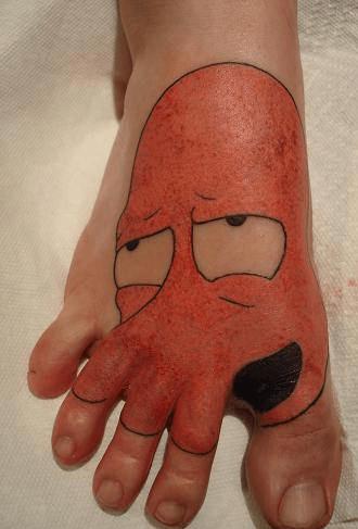 futurama foot tattoos g rated Ugliest Tattoos - 7116501504