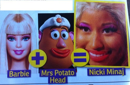 Barbie,nicki minaj,mr potato head,Music FAILS,g rated