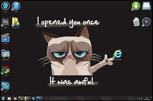Grumpy Cat browser internet explorer