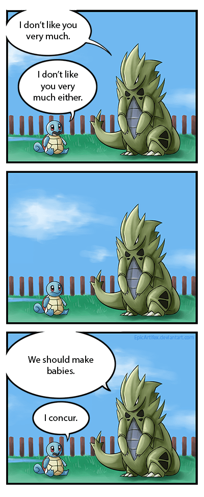 daycare center,tyranitar,Pokémon,squirtle