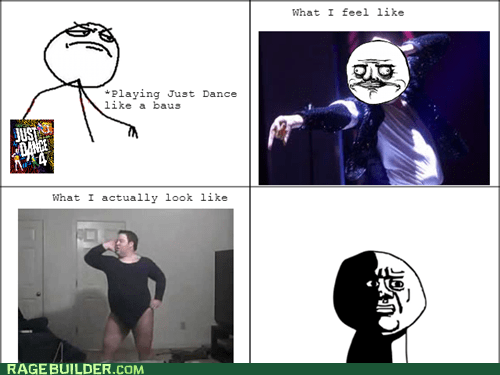 expectation vs. reality,you suck,kinect,just dance 4