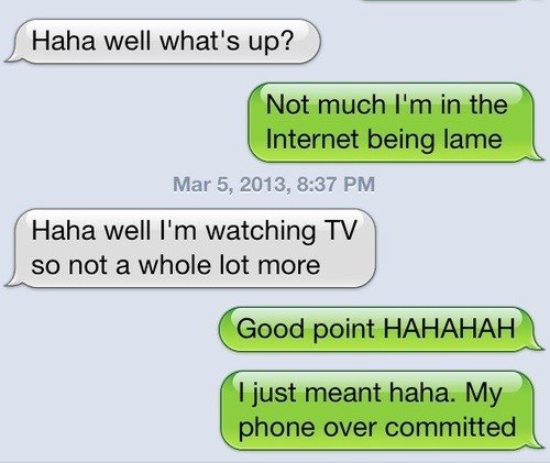 iPhones overcommitted laughing not funny - 7117051648