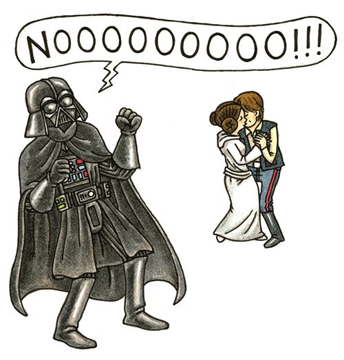 noooo star wars Han Solo Princess Leia darth vader