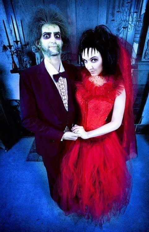 Excellent Beetlejuice Cosplay Wedding