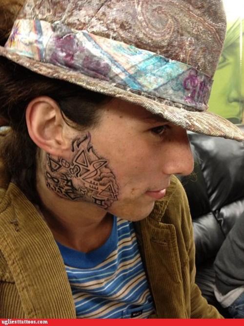 kai the hitchhiker face tattoos symbols Ugliest Tattoos - 7117465088