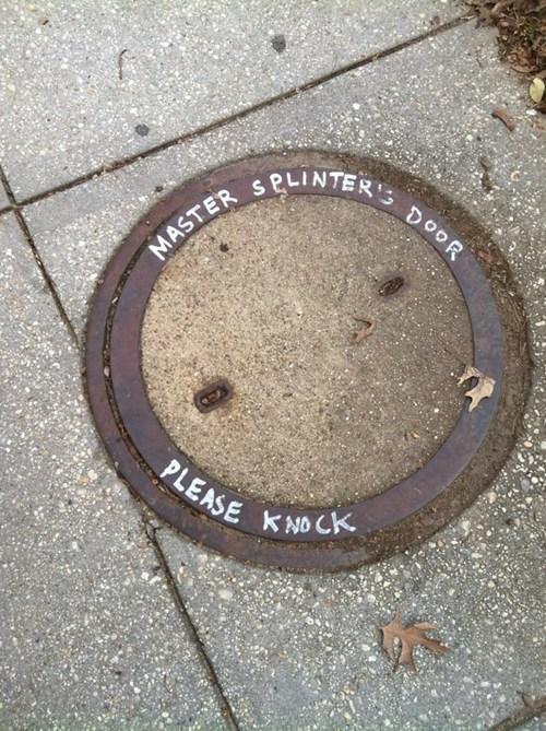 sewer TMNT nerdgasm hacked irl manhole - 7117470208